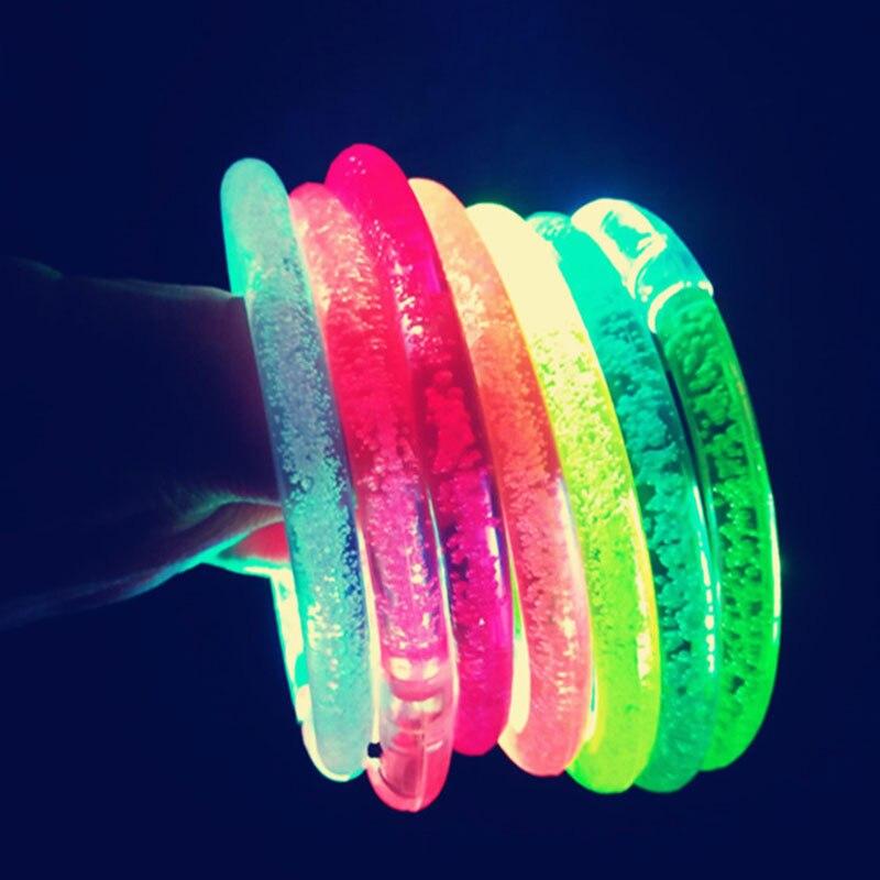 Светодиодный акриловый свет мигающий вспыхивающий вечерние клубный браслет Браслет-Игрушка Подарки