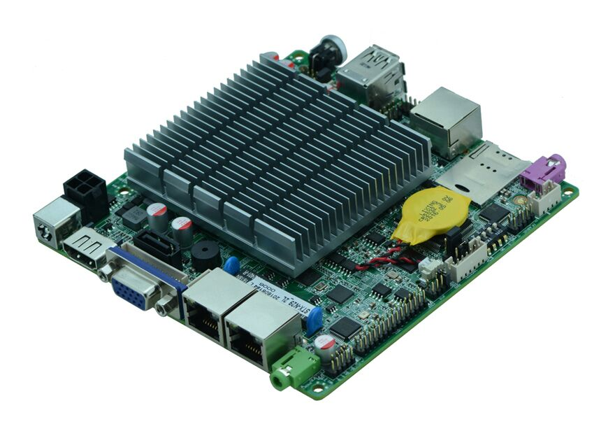 NUC Fanless Mini Motherboard J1900 Smallest Mainboard 120*120mm With 2* RTL8111F Ethernet