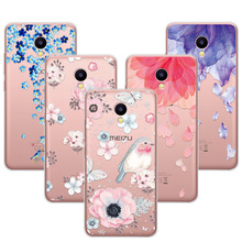 M5C 3D Art Print Case Coque For Meizu M5C 5.0 inch Soft TPU Flower Lace Relief Phone Cases Cover For Meizu M5C M 5C Funda Capa