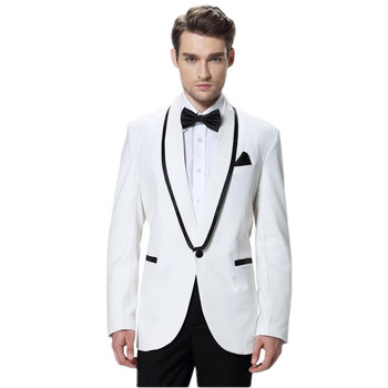 High quality of men's leisure suit elegant two-piece suit fashion the groom one grain of buckle two-piece suit simple man suit