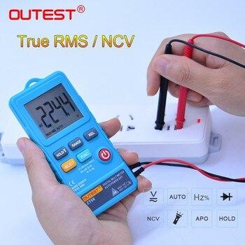 OUTEST ZT08 البسيطة الرقمية المتر 8000 التهم خط تردد صحيح-RMS فلاش ضوء AC/DC الجهد أوم