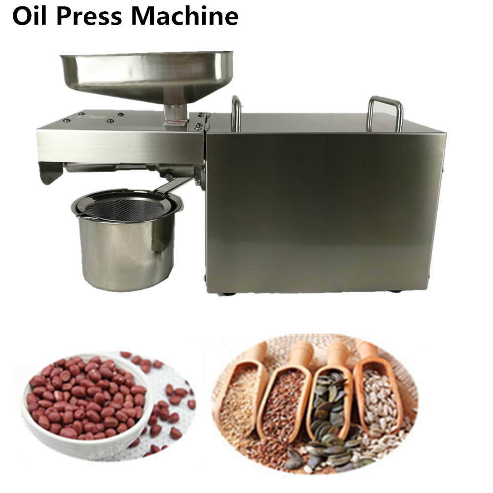 220V available New Stainless Steel Commercial Home Oil Extractor Expeller Presser Oil Press Machine цена 2017