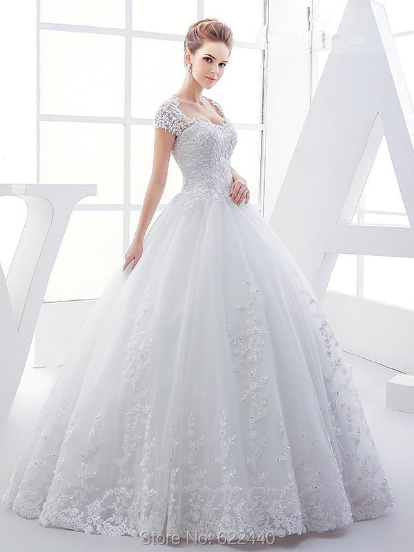 Charming Ball Gown Wedding Dresses Floor Length Bridal Gown Open ...