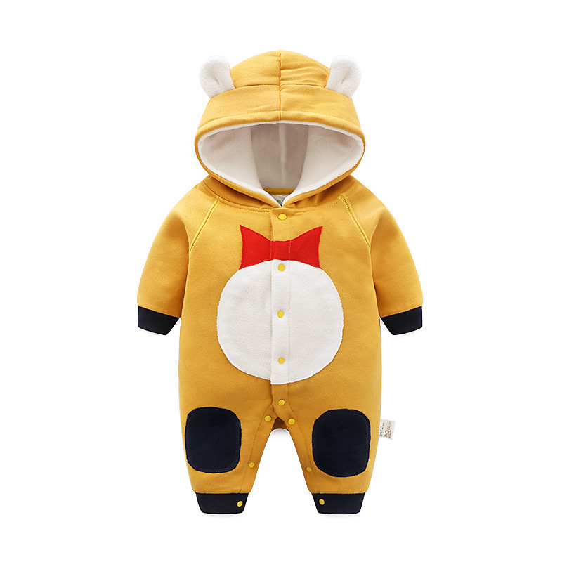 6827056ad CalaBob Winter Baby Rompers Cartoon Hooded Newborn Baby Girl Clothes ...