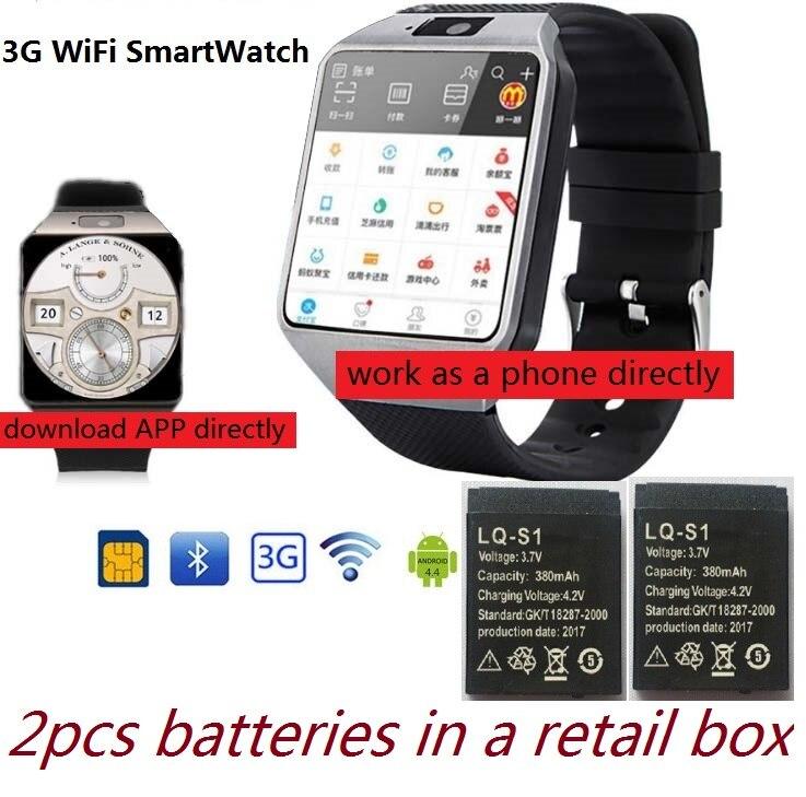 3g WIFI Smart Uhr 512 mb/4 gb w/Facebook/Twitter/WhatsApp Bluetooth 4,0 Smartwatch w/Kamera Schrittzähler SIM Karte Anruf