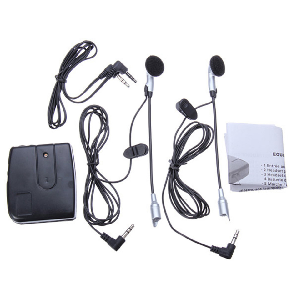 2 weg Motor Intercom Motorhelm Headset Communicatie Systeem Interphone motor Headset Intercomunicador Oortelefoon