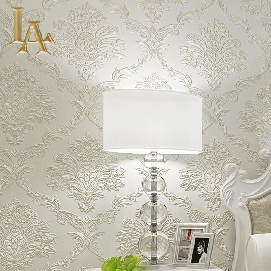 Silver Wallpaper For Bedrooms Online Get Cheap Damask Wallpaper Aliexpresscom Alibaba Group