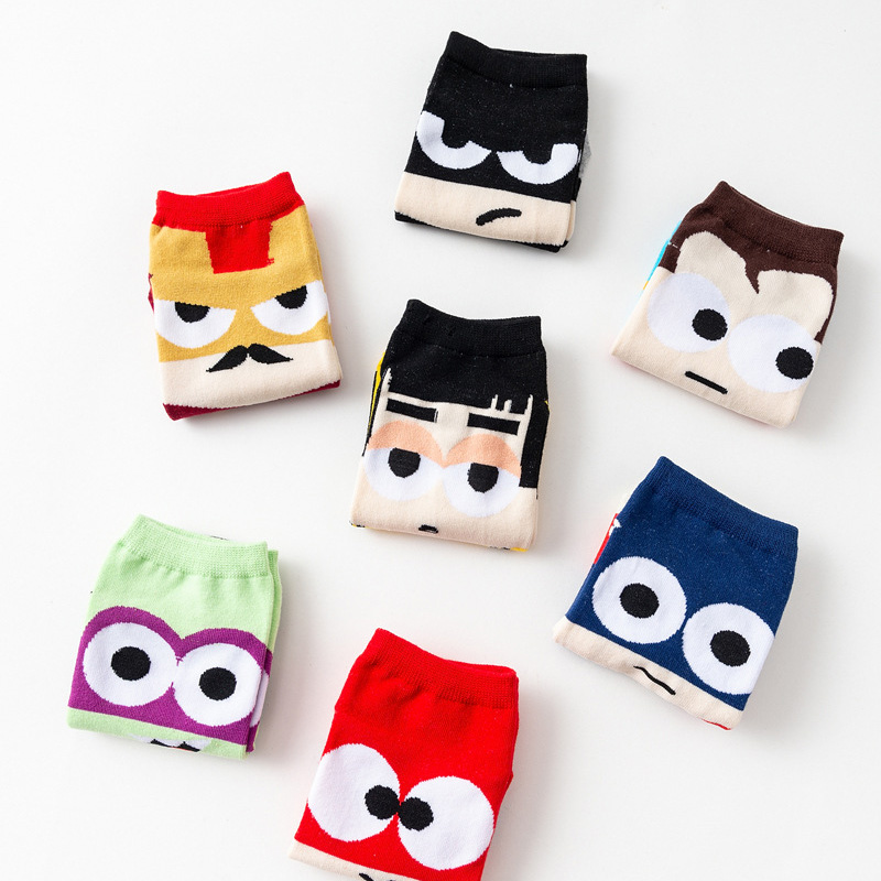 Kids Super Hero Cartoon Children Socks Boys Cotton Straight Kids Batman Socks Men Captain America 2019 Cartoon Boat Girls Socks