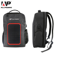 ALLPOWERS Solar Backpack 6000mAh Battery Solar Power Charger for iPhone 5 5s 6 6s 7 8 X Plus Huawei Xiaomi Samsung Cell Phone