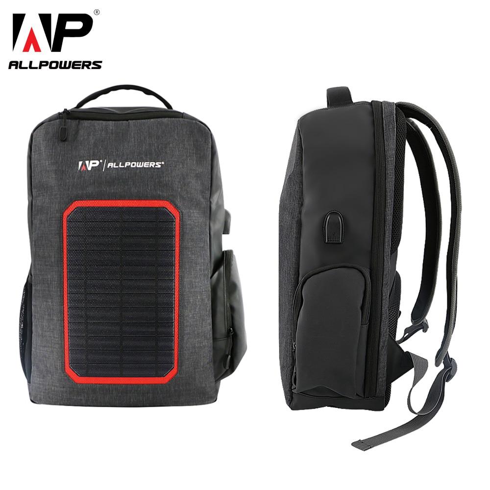 ALLPOWERS sac à dos solaire 6000 batterie mah chargeur solaire pour iPhone 5 5 s 6 6 s 7 8 X Plus Huawei Xiaomi Samsung téléphone portable