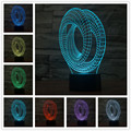 Colorful abstract acrylic LED stereo and light touch switch 3 d  Basket Led Enfant Night Light For Children Table Lamp