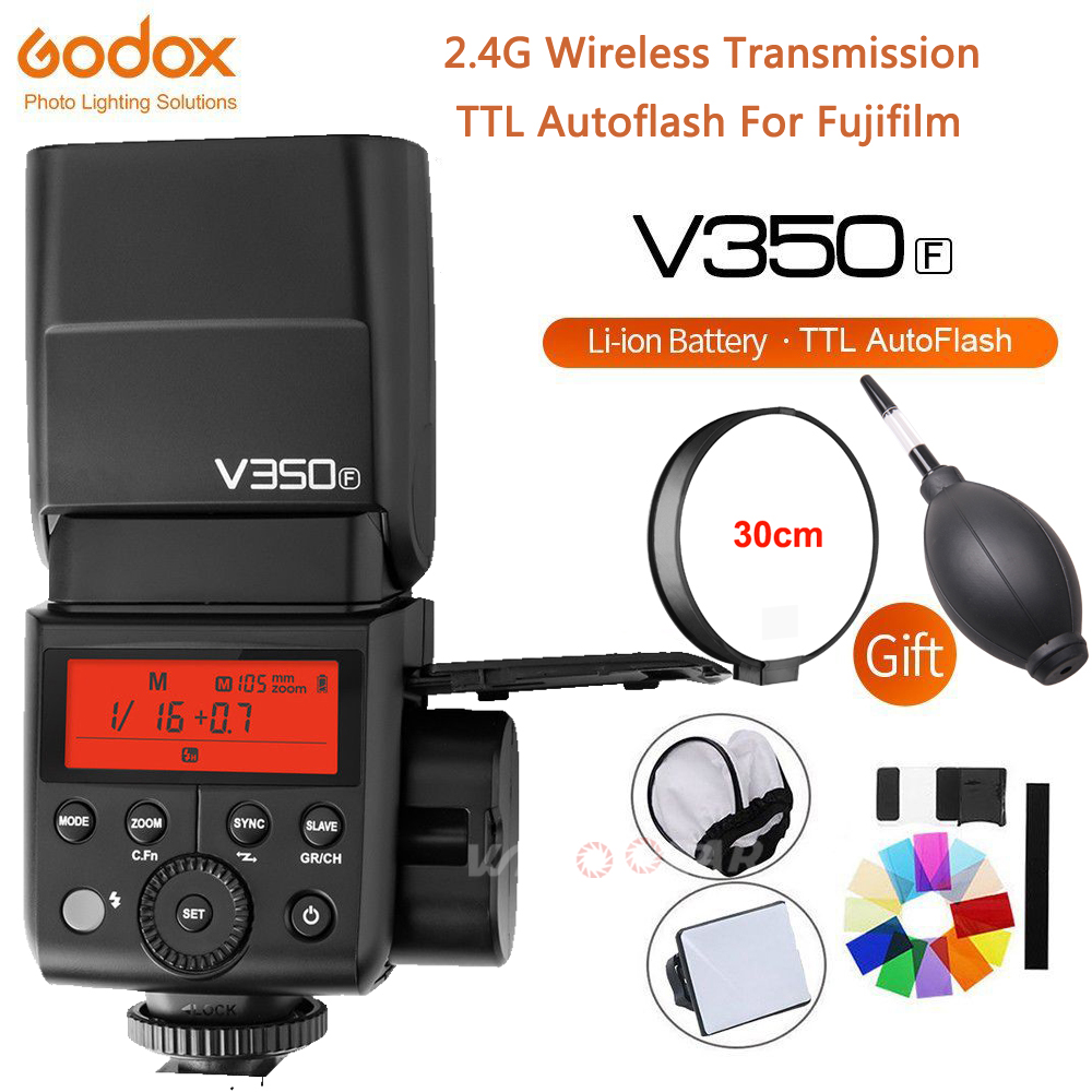 Godox V350F TTL HSS 1/8000s Speedlite Flash Built in 2000mAh Li ion Battery with Xpro F Trigger Transmitter for Fujifilm Camera-in Flashes from Consumer Electronics    3