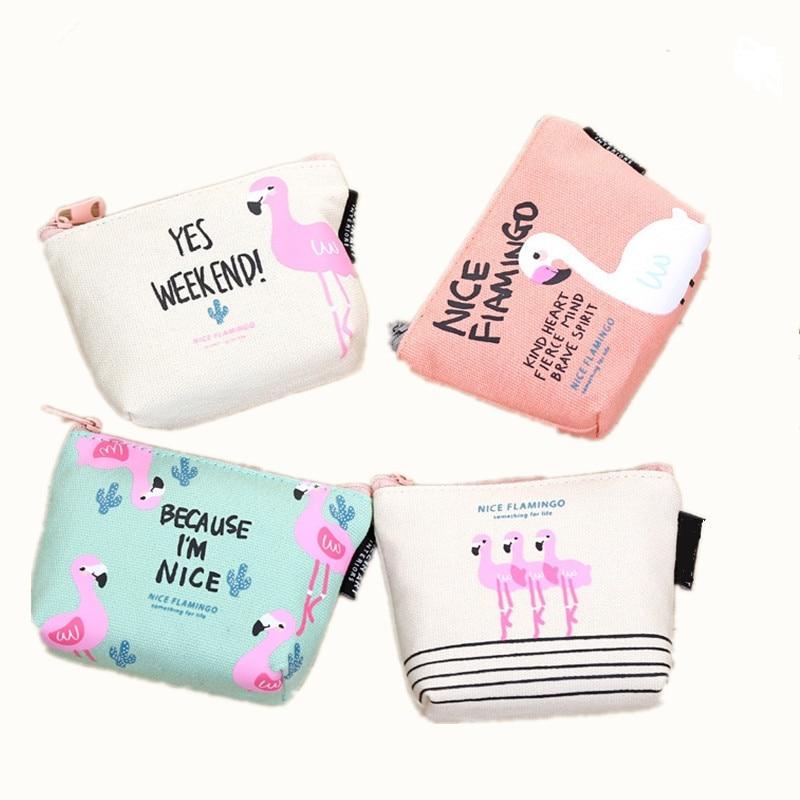 ETya Animal Cartoon Cute Coin Purse Wallet Holder Case Women Small Canvas Bags Cartoon  Money Key  Card Holders Pouch Zipper Bag