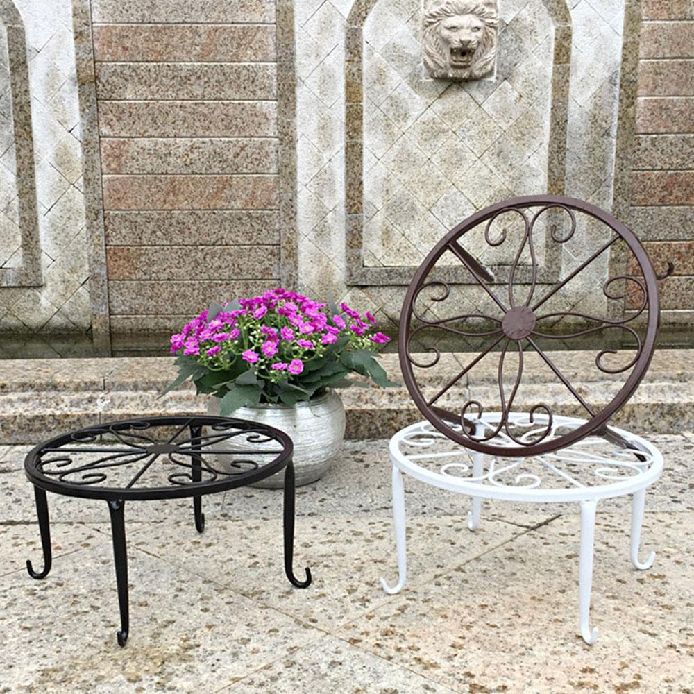 Горшечная стойка для цветочного горшка полка хранения цветов домашний декор создает прочный сад кованого железа