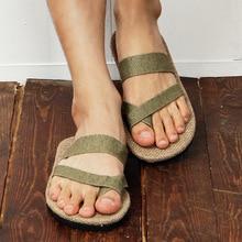 Free Shipping 2016 Natural Man Hemp Flip Flops Summer Breathable Fashion Beach Sandal Shoes Men's Casual Canvas Slides Shoes