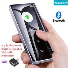 Yescool X7 2,4 дюймов MP3 плеер Bluetooth без потерь Hi-Fi музыкальный плеер с динамиком электронная книга магнитофон с fm-радио мини USB mp3 спортивные плееры