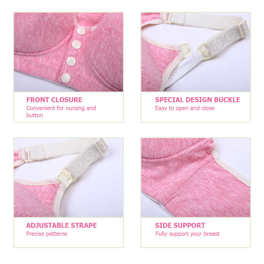 Cotton 2018 Breast feeding Maternity bras sleep Nursing Bras pregnant feeding underwear clothes Pink/Grey for Pregnant women