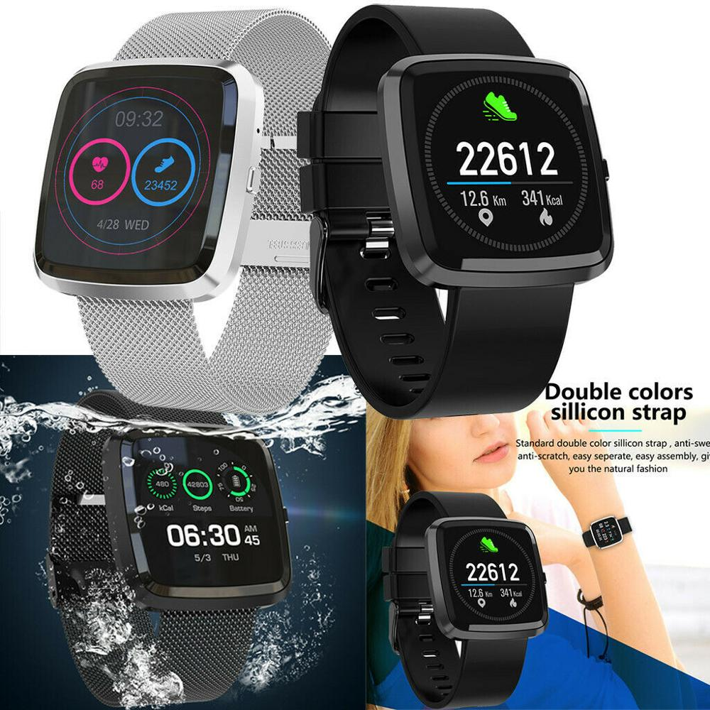 NEW T2 Smart Watch Fitness Tracker with Heart Rate Monitor Blood Pressure Monitor Waterproof Activity Tracker Sports Smartwatch