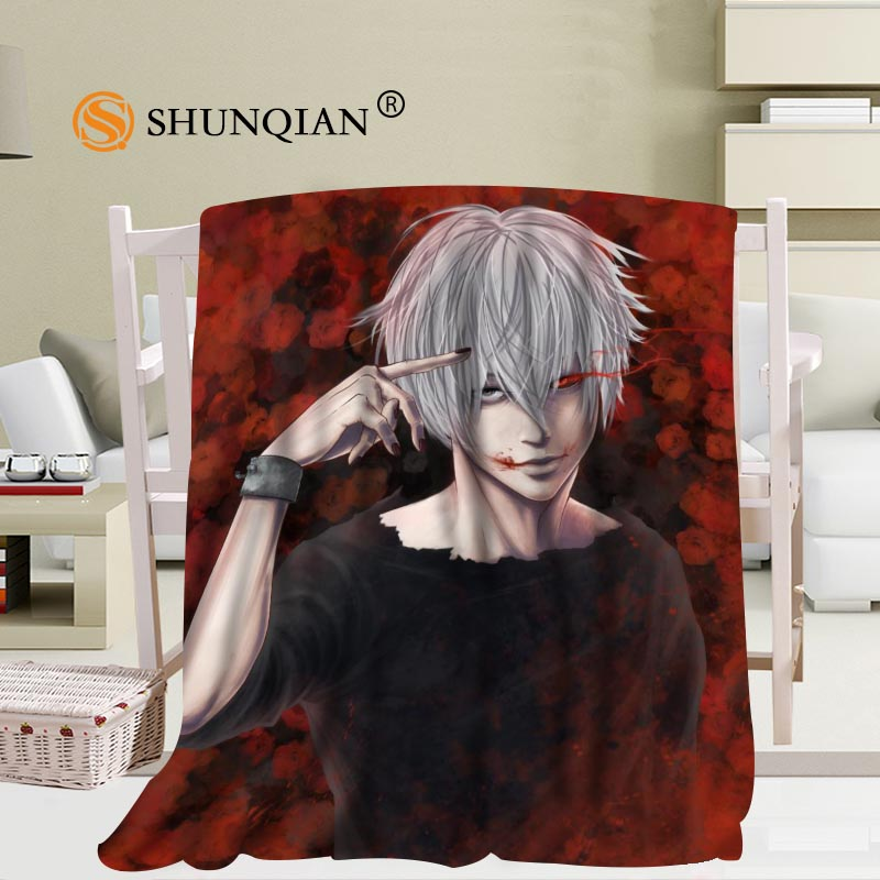Custom tokyo ghoul Blanket Manta Falafel Blanket Sofa/Bed/Plane Travel Plaids Bedding Set 58x80inch 50X60inch 40X50inch