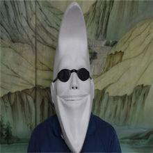 Белая забавная латексная маска на всю голову в форме Луны для мужчин и женщин, костюм для Хэллоуина Дарт, Маскарадная маска мяч для Хэллоуина