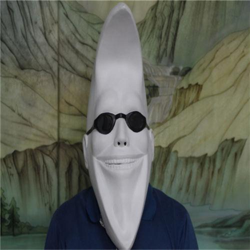 40ea0223d White Funny Moon Man Women Full Head Latex Mask Darth Maul Face Halloween  Costume Ball Cosplay Party Mask Ball Masquerade Mask