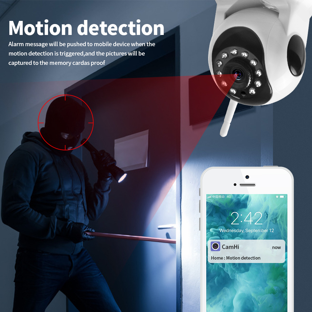 LOOSAFE IP Camera WIFI HD 720P Onvif Video Surveillance Kamera Alarm Security Network Home IP Camera Night Vision LS F2 in Surveillance Cameras from Security Protection