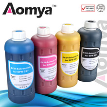 6 colors x1000ml BULK INK Eco-solvent ink For Epson DX5/DX7 head printers