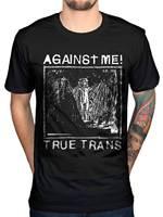 Offizielle Gegen Mich Wahre Trans T-Shirt Rock Band Pop One Köpfe Hemd Metall Mode Logo Druck T Shirts Grau Stil