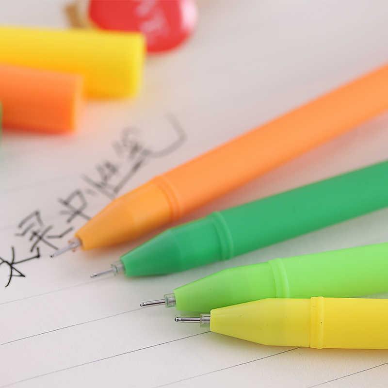 1 Uds creativo dibujo fruta pluma estudiantes premios Gel pluma firma suministros para oficina y Escuela lindo material escolar