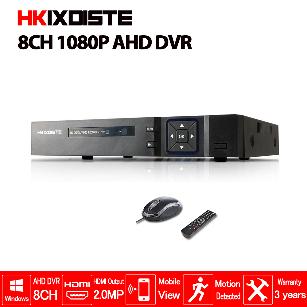 цены HKIXDISTE AHD 8CH 1080P DVR System ONVIF mini NVR 8CH 5 in 1 TVI CVI AHD IP HDMI H.264 P2P Cloud network CCTV 8CH AHD DVR