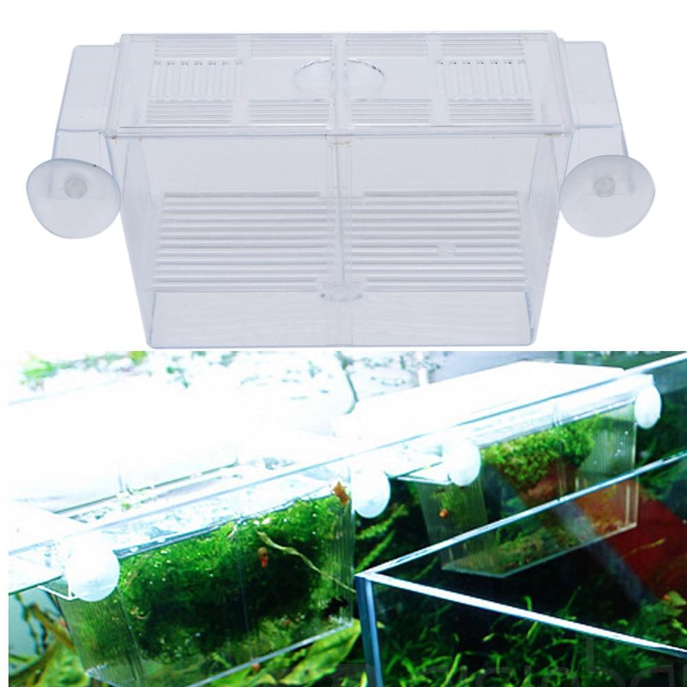 Aquarium fish tank fry net breeder breeding hatchery - Plastic Multifunctional Mini Fish Breeding Isolation Box Divider Incubator For Fish Fry Hatchery Tank Aquarium Accessories