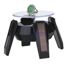 JAVRICK Jewelry Tool Solar Power 360 Degree Jewelry Rotating Display Stand Turn Plate Table Jewelry Organizer Hard Display Stand(China)