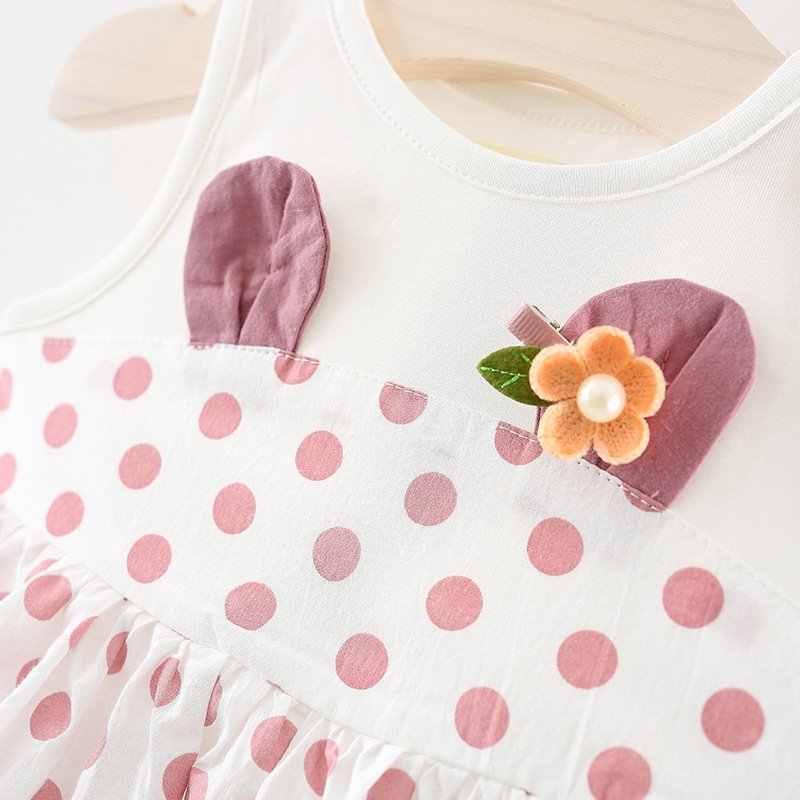 Vestido de la muchacha del bebé vestido de verano de bebé de punto para niña recién nacido bebé niñas Clothes1