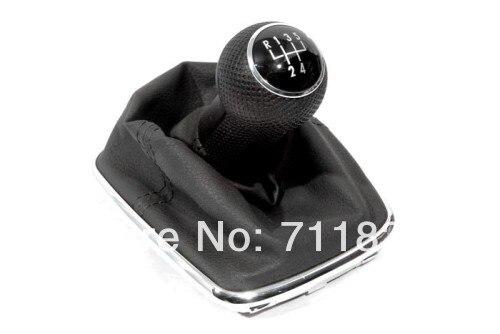 Conscientious Gear Knob & Shift Boot 5 Speed For Volkswagen For Vw Jetta / Bora Mk4