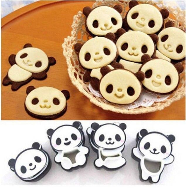 Бесплатная доставка маленькая панда медведь форма сэндвич хлеб торт конфеты плесень diy плесень печенье бисквитное резак