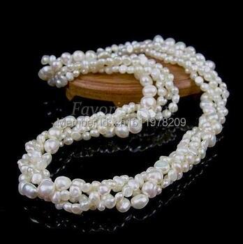60420fae4212 Collar de perlas largo joyería de perlas 48 pulgadas 7-8mm blanco ...