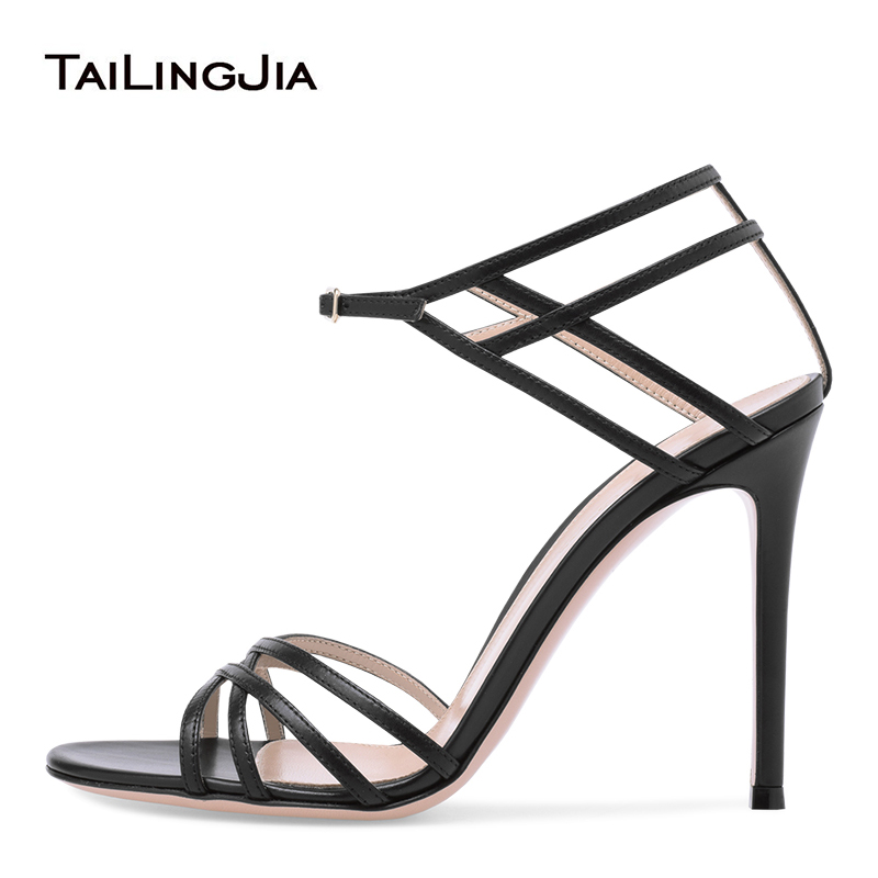 Womens Platform High Slim heel shoes Ankle T-strap Nightclub Party Sandals CHIC