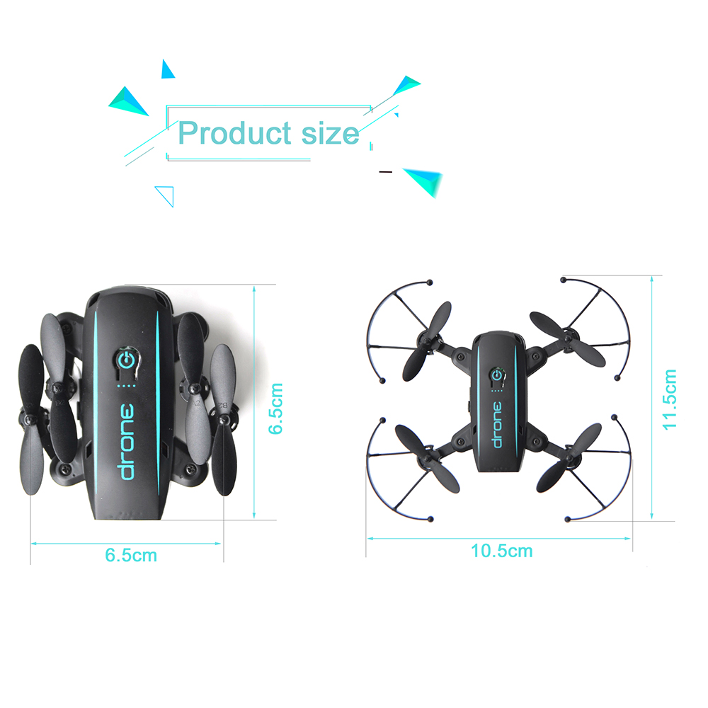 New Arrival IN1601 2.4G 720P 0.3MP Wifi FPV Foldable Mini Drone With Camera Altitude Hold RC Drone Quadcopter Selfie Drone Gifts (19)
