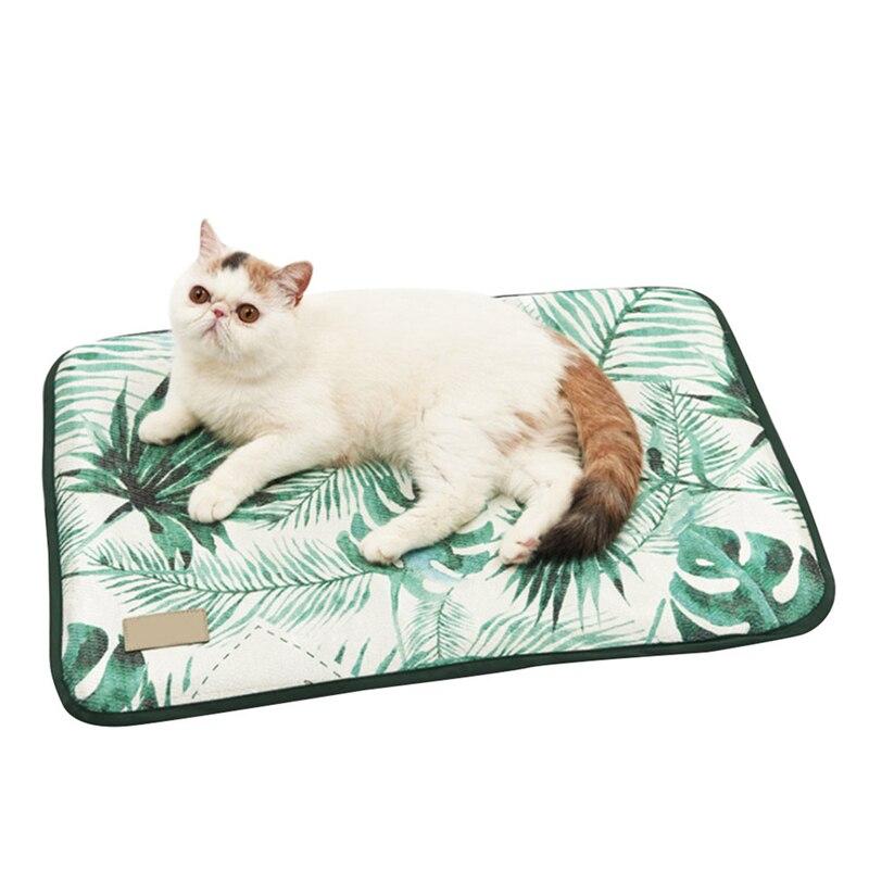 ice silk pet dog summer cooling mat cat dogs floor mats blanket sleeping bed cushion cold pad. Black Bedroom Furniture Sets. Home Design Ideas