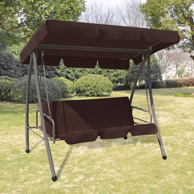 Awesome Us 215 99 Vidaxl Outdoor Swing Chair Bed With Canopy Coffee In Patio Swings From Furniture On Aliexpress Com Alibaba Group Uwap Interior Chair Design Uwaporg