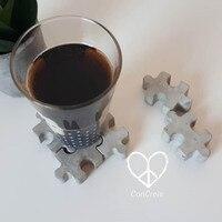 Блок дизайн головоломки coaster плесень гипсового Силиконовый поднос плесень Силиконовая для кубиков льда плесень гипсовой Плиты Формы