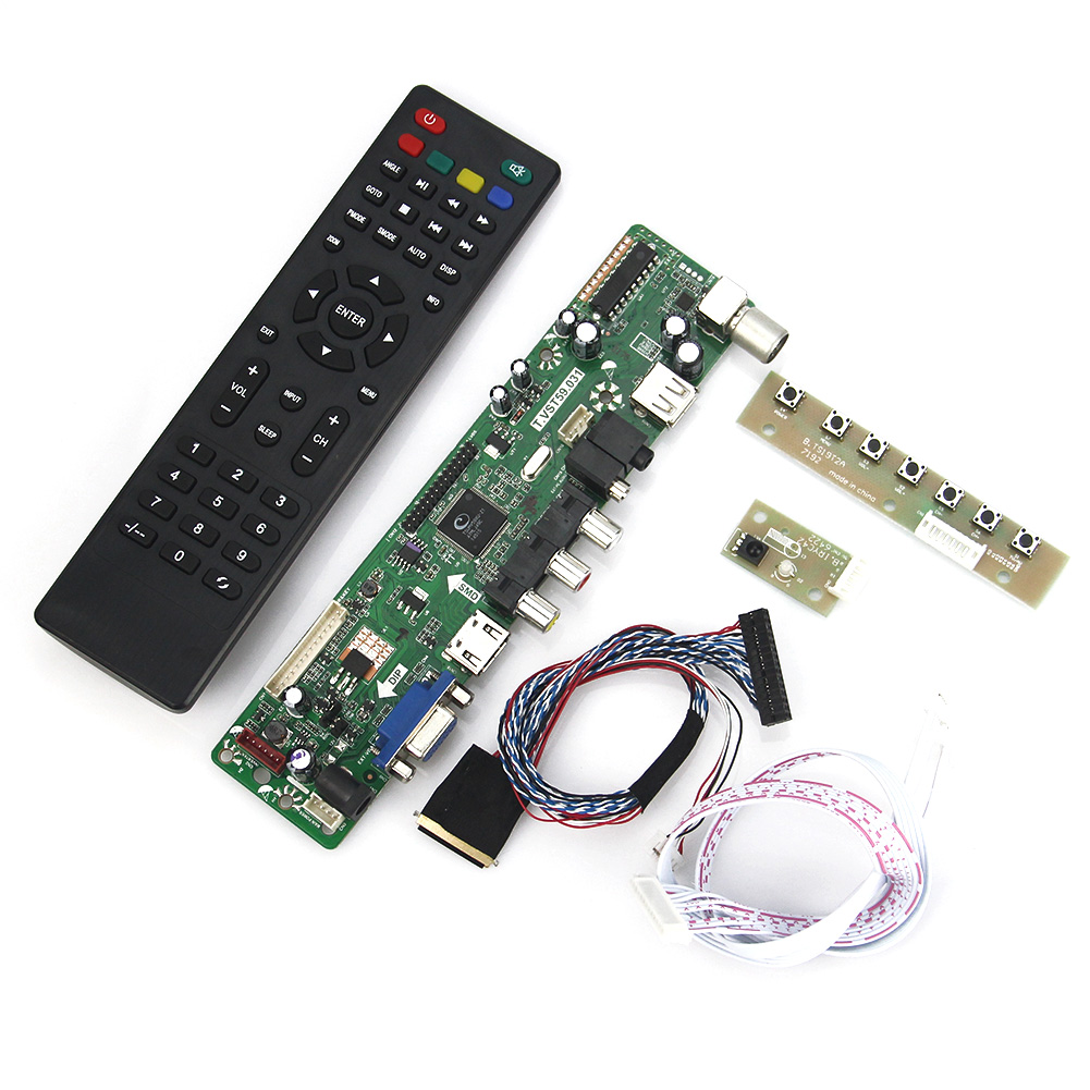T.VST59.03 For LTN116AT02 B116XW02 V.0 LCD/LED Controller Driver Board (TV+HDMI+VGA+CVBS+USB) LVDS Reuse Laptop 1366x768 lcd led controller driver board for b156xw02 ltn156at02 t vst59 03 tv hdmi vga cvbs usb lvds reuse laptop 1366x768