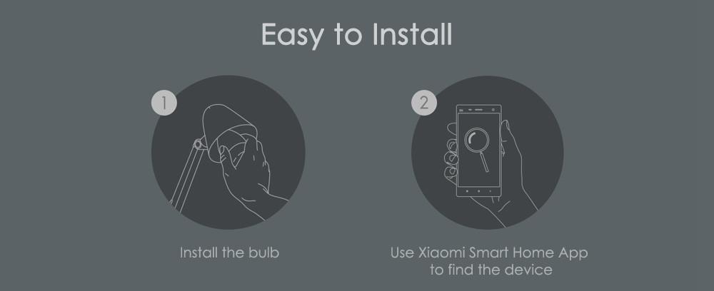 Original Xiaomi Yeelight II Smart LED Bulb E27 9W 600 Lumens Mi Light Smart Phone WiFi Remote Control  8