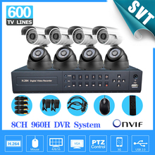 8 Channel IR Surveillance CCTV Camera Kit Home Security network HDMI 1080P DVR NVR video Recorder cctv System 960H D1SK-188