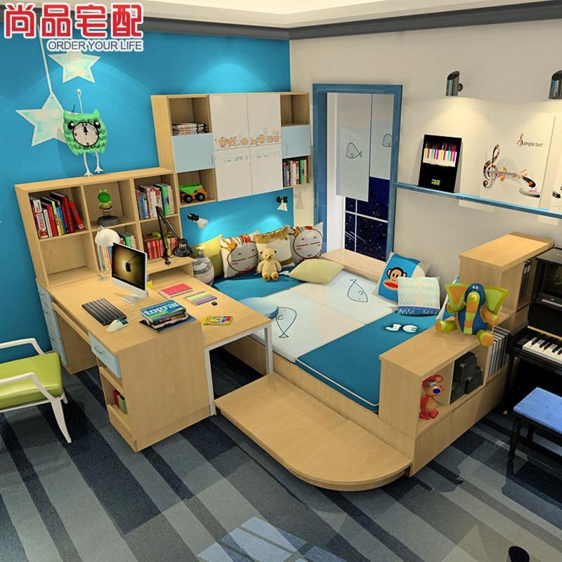Delivery Tatami Bed Desk Wardrobe Combination Of Multi
