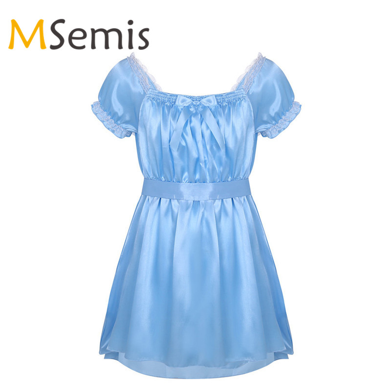 Mens Lingerie Sissy Dress Gay Shiny Dress Brilliant Dress -2932