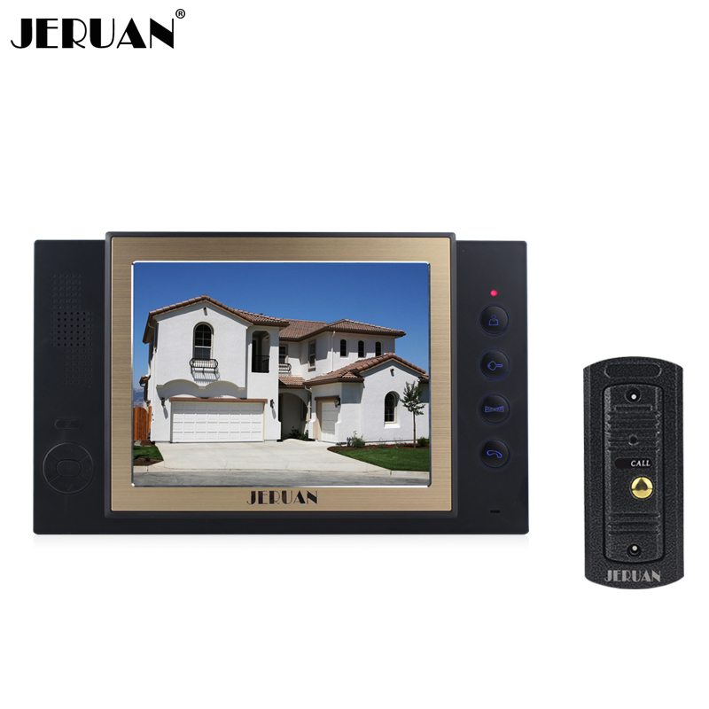JERUAN 8`` screen video doora high definition camera rain-proof intercom system with video recording and Photo storage function winait electronic image stabilization hdv z8 digital video camera with recording function touch screen