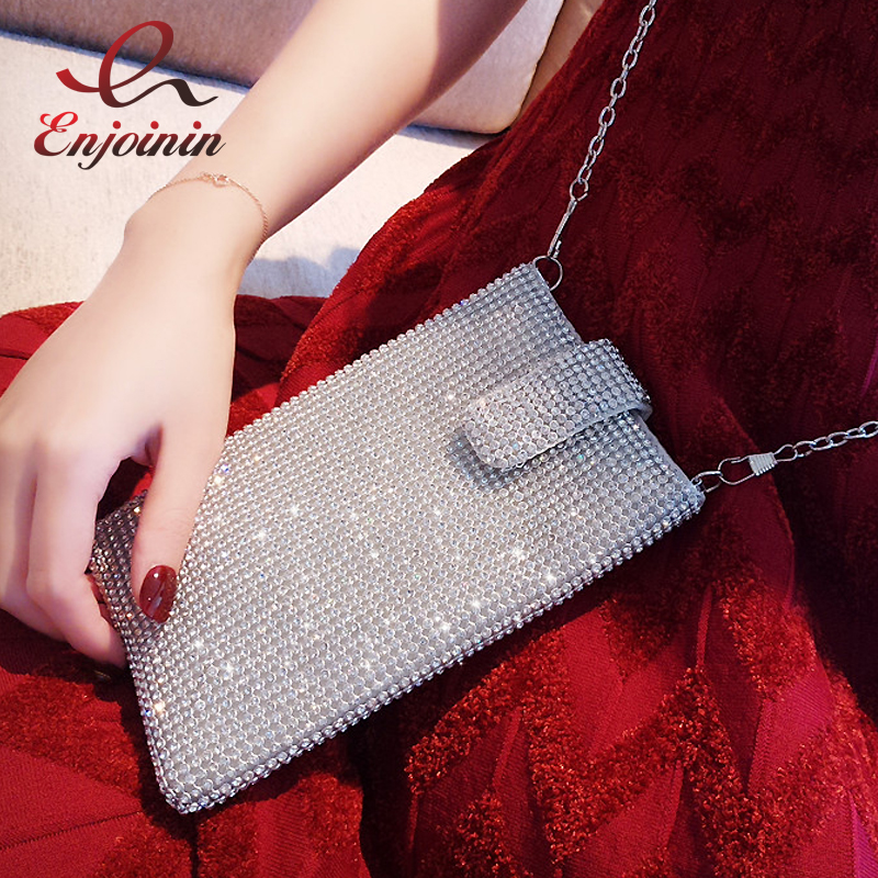 High Quality Fashion Diamond Luxury Mini Phone Bag Ladies Handbag Shoulder Bag Silver Clutch Bags Evening Bag Purse Wallet boutique charm full of high quality diamond fashion party mini purse clutch evening bag ladies handbag shoulder bag wallet 88631