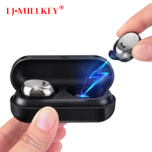 M9 Wireless Earbud TWS Bluetooth Headset Metal Charge Case Bluetooth Earphone for Phone Mic for Calls  LJ-MILLKEY YZ105