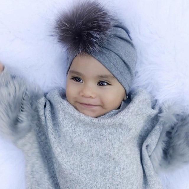 43d77323d19988 MUQGEW 1Pc Newborn Toddler Kids Baby Boy Girl Venonat Turban Beanie Hat  Headwear winter Autumn warm cap children beanies caps